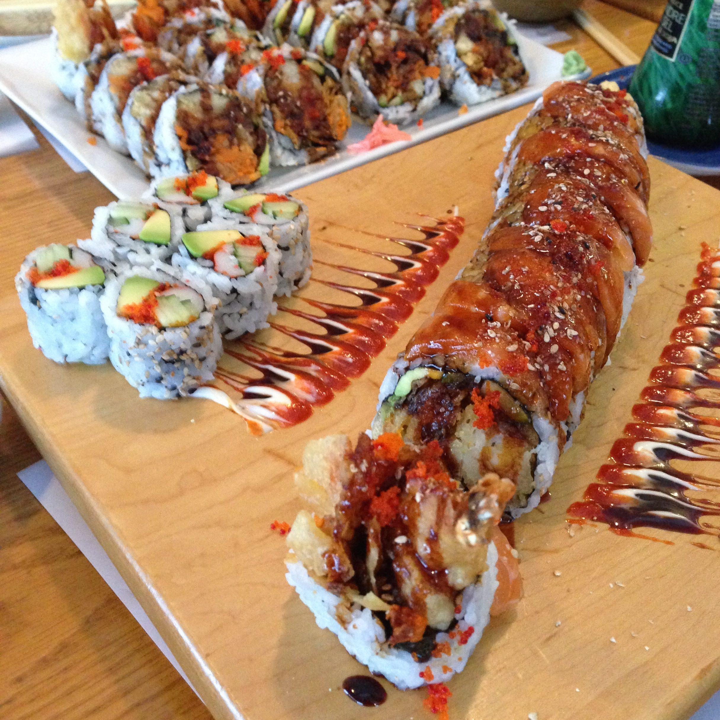 Sushi rolls at Yoko Japanese Restaurant