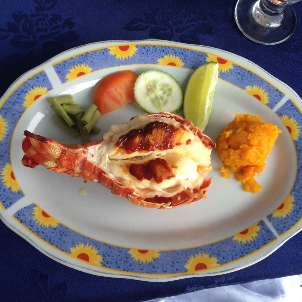 Grilled Lobster, salad and pumpkin at La Casona Del Arte