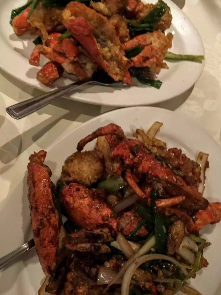 Wahsing Lobsters - Green Onion & Ginger and Leeks with Maggi Sauce