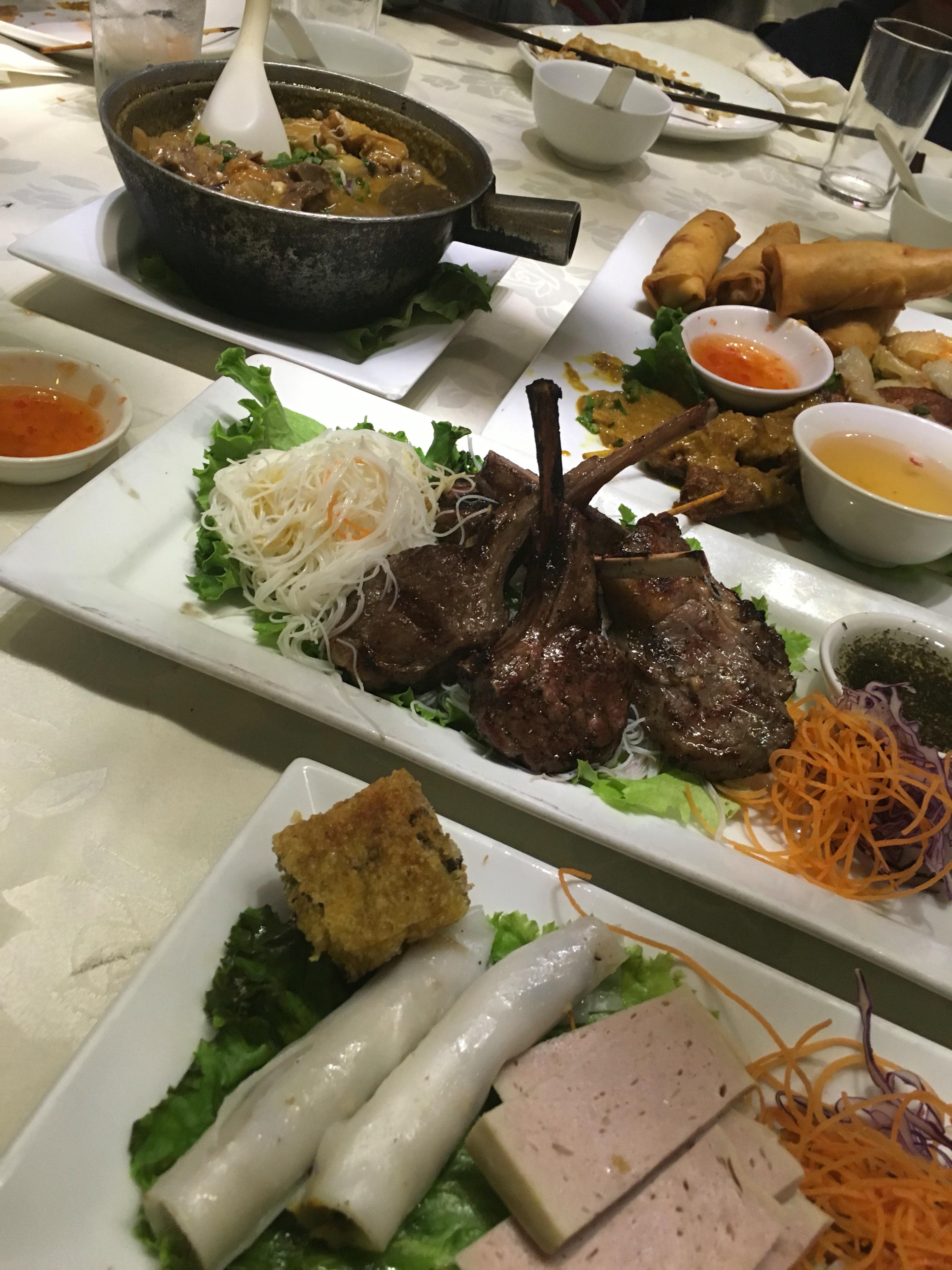 Lemongrass Lamb Chops, Appetizer Platters, Beef Brisket CurryLemongrass Lamb Chops, Appetizer Platters, Beef Brisket Curry