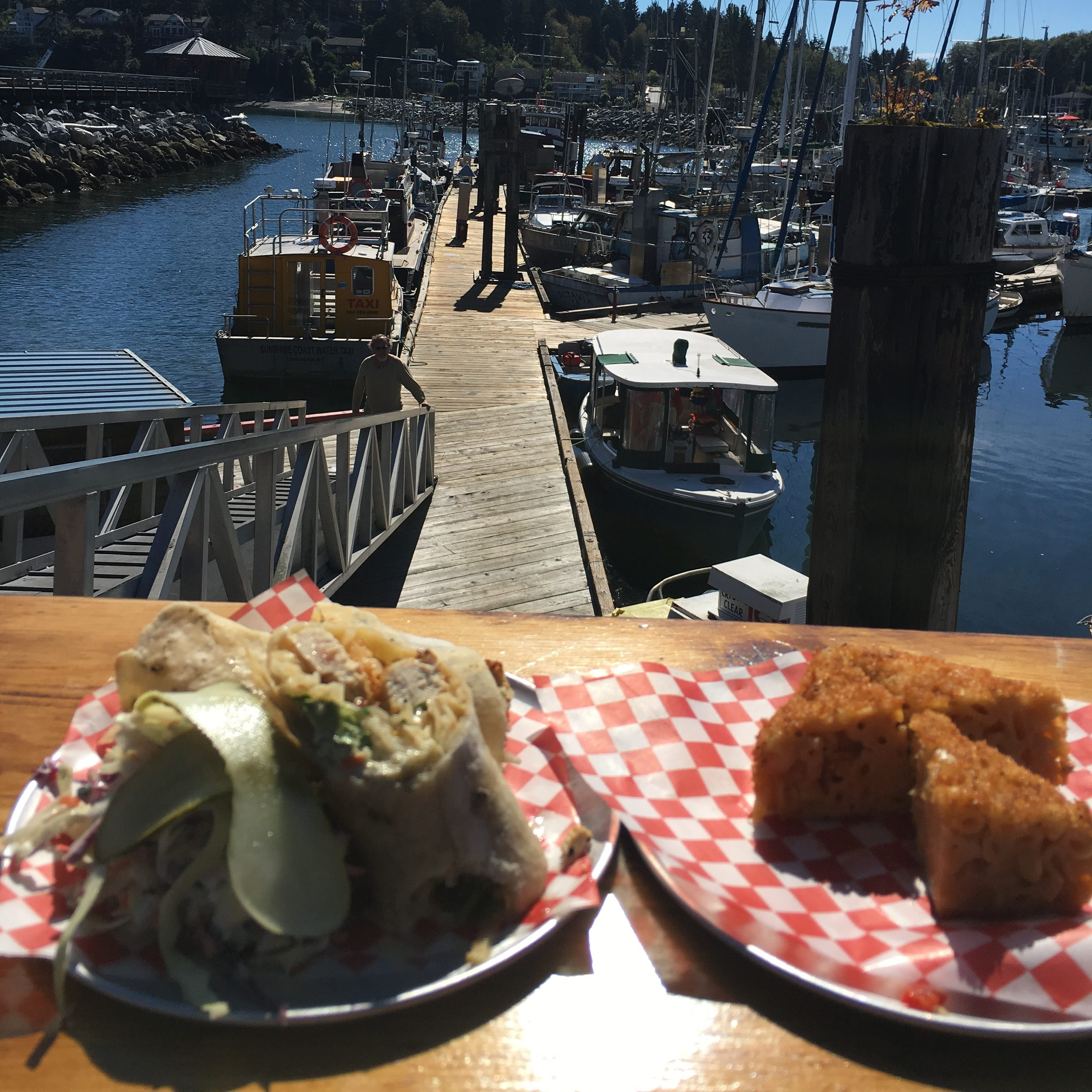 Albacore Tuna Wrap and Mac & Cheese