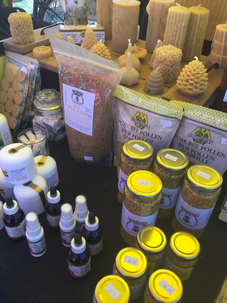 Bee Products - pollen, candles, sprays