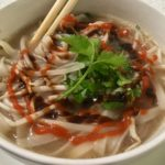 Beef Short Rib Pho with Srirarcha and Hoisin Sauce