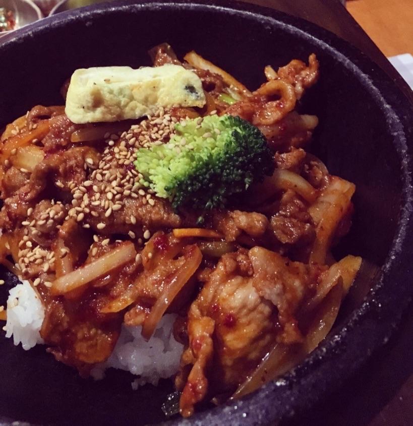 Hot Stone Spicy Pork Dupbap