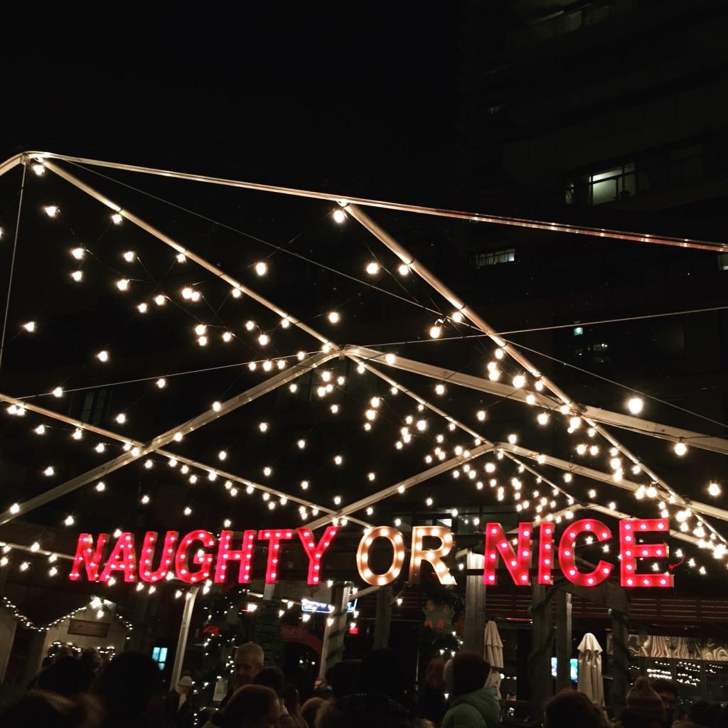 Bar light fun at the Toronto Christmas Market