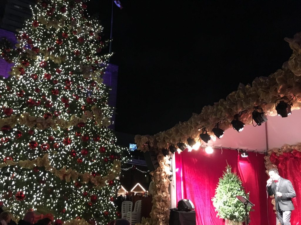 Live music at the Toronto Christmas Market