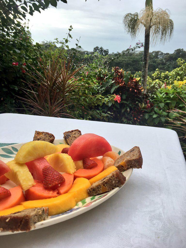 Fresh Fruit Platter and Fruit Bread