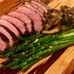 Duck Magret with Asparagus and Mushrooms