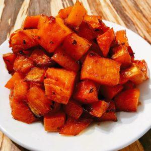 Honey Persian Lime Baked Sweet Potato Bites