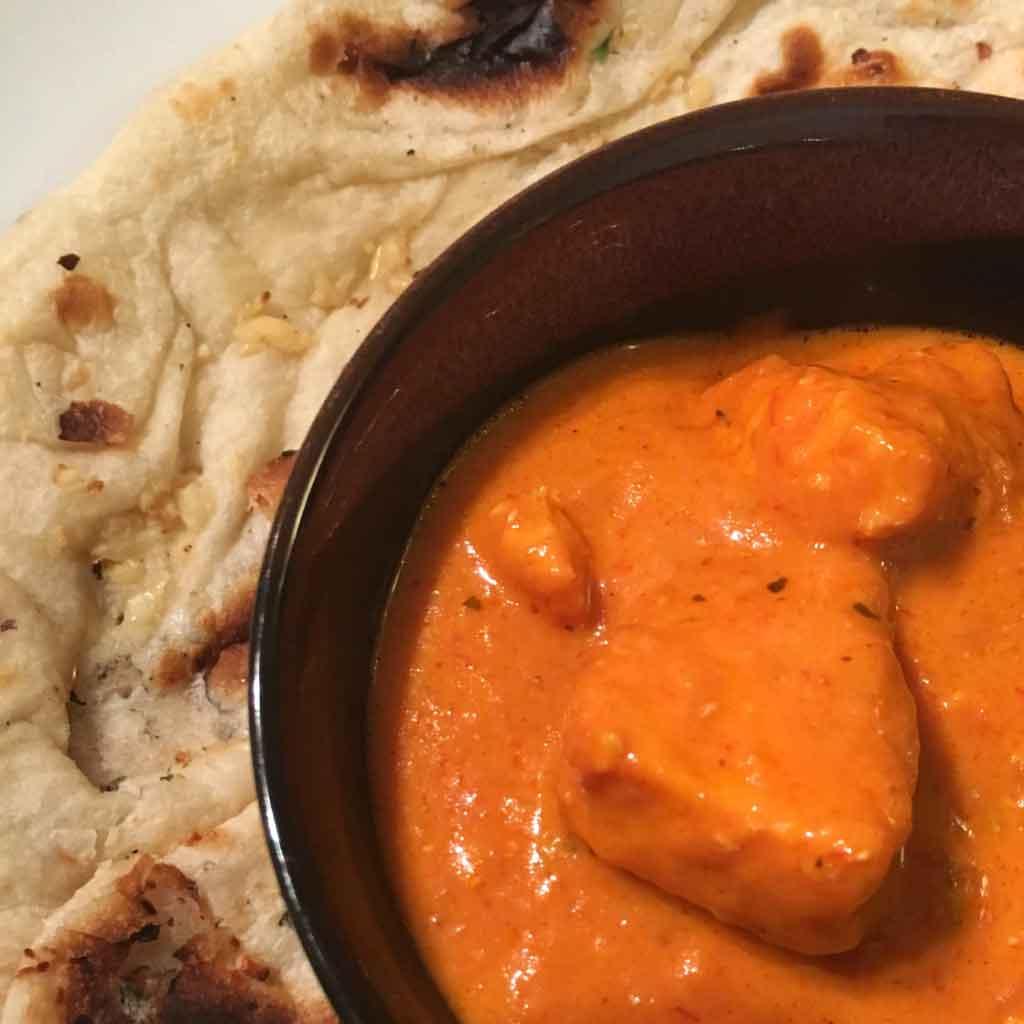 Butter Chicken with Garlic Naan