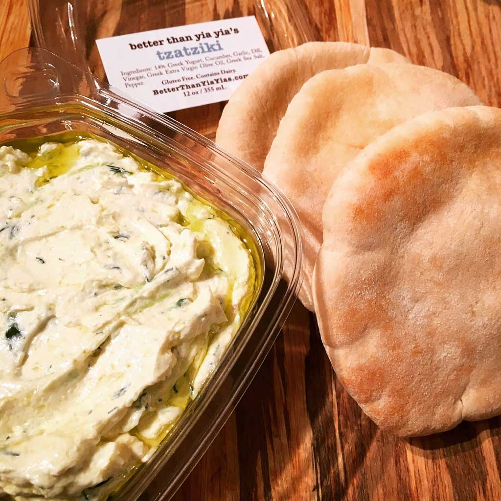 Better than Yia Yia's Tzatziki with Mini Pita Bread