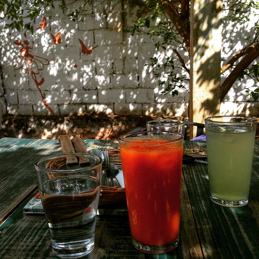 El Apapacho - Fresh Papaya Juice and Limonada
