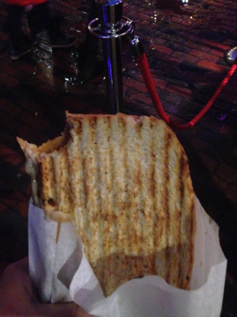 """""""Mexican"""" Grilled Cheese Sandwich - Chorizo sausage and cheesy goodness"""