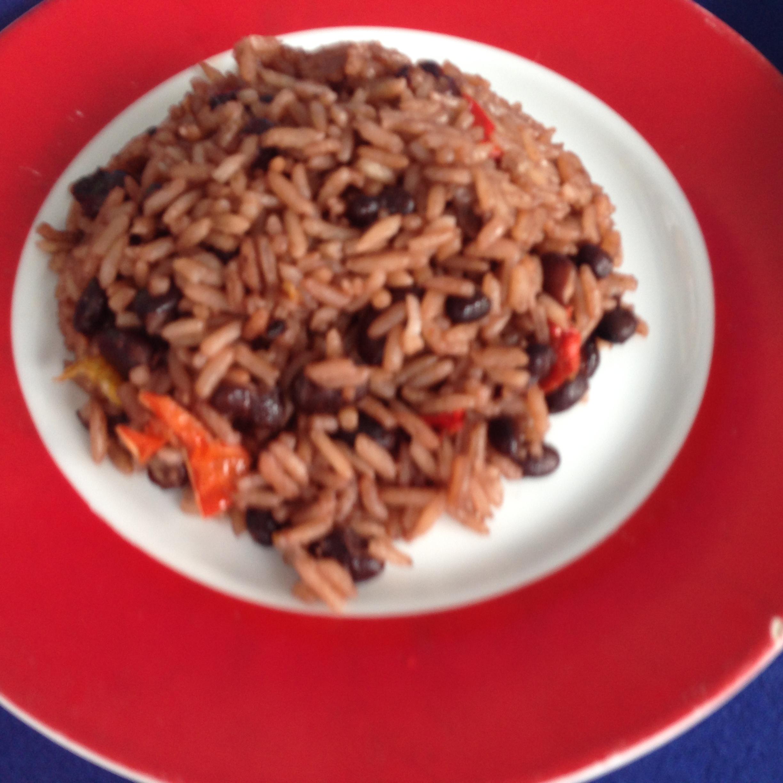 Black beans and rice at La Casona Del Arte