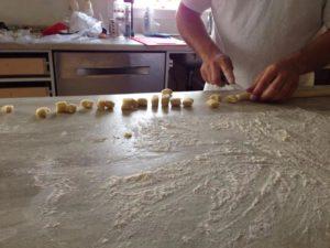 Cutting Gnocchi pieces