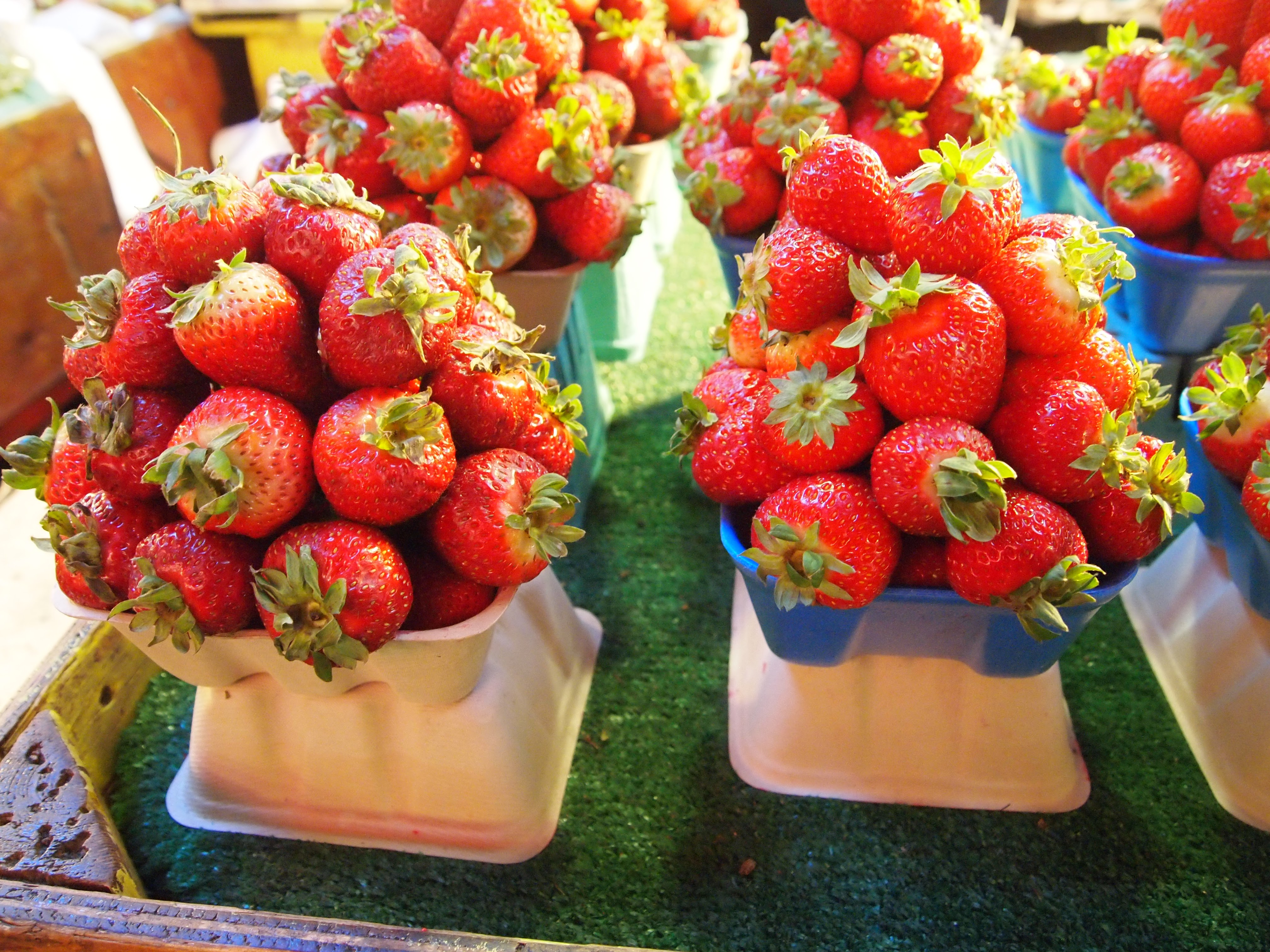 Piles of Strawberries from Granville Island Public Market