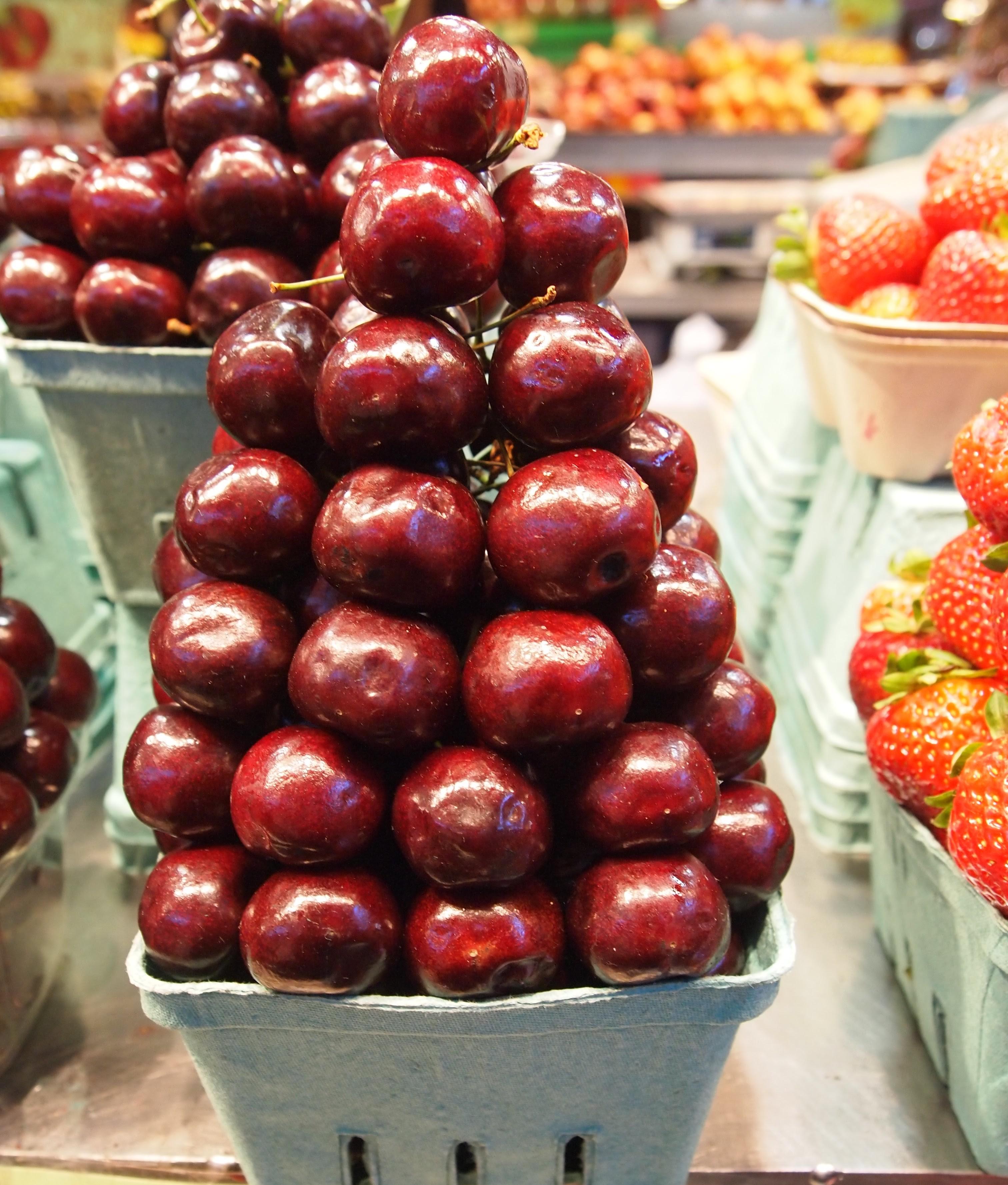 Cherries from Granville Island Public Market