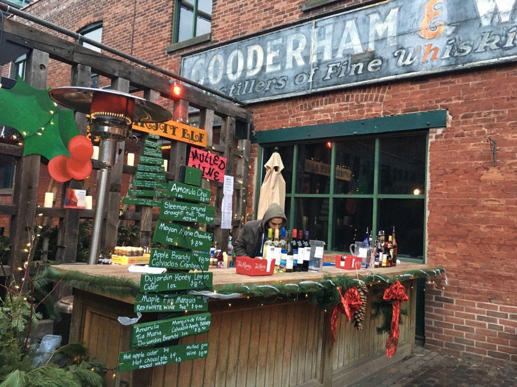 Outdoor Bar at the Toronto Christmas Market