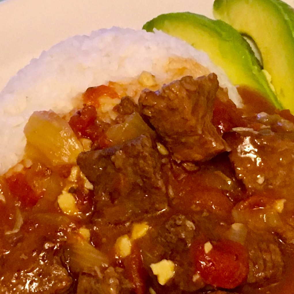 Red Curry Beef Stew with Rice