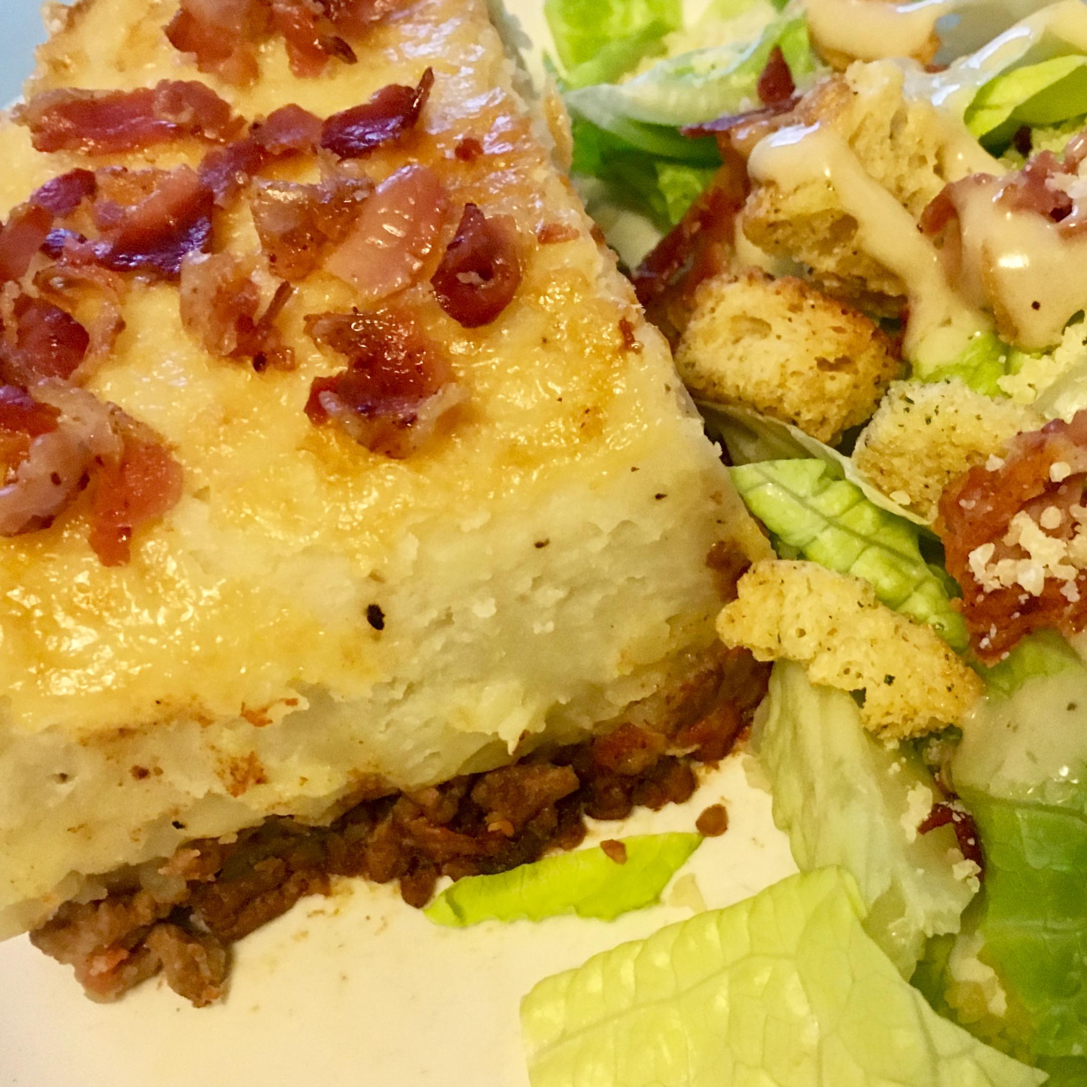 Shepherd's Pie with Caesar Salad