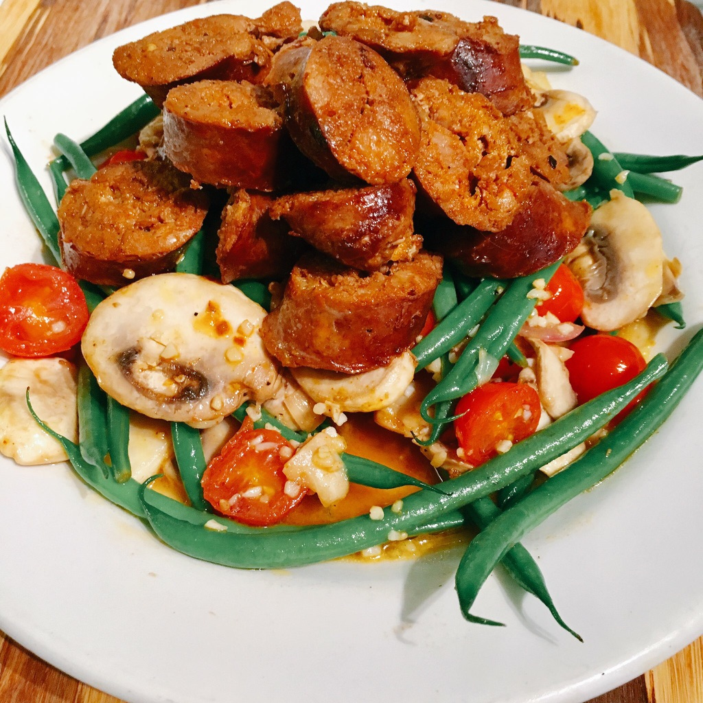 Pan Fried Chorizo with Fresh Vegetables