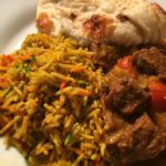 Beef Curry with Chicken Biryani and Naan